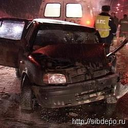 Авария в Кемерове с участием четырех автомобилей