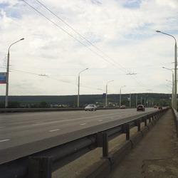 Крупное ДТП на Кузбасском мосту в Кемерове