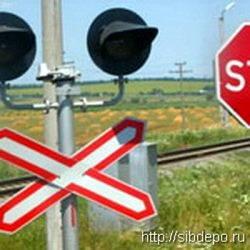 В Кемерово локомотив протаранил легковой автомобиль