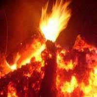 В посёлке Тисуль горит административное здание