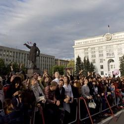 В День города кемеровчане поймали «бабочек удачи»