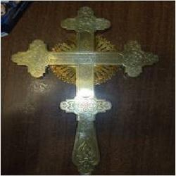 Серебряный крест Николая II найден в Кузбассе