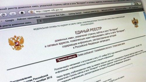 реестр запрещенных сайтов