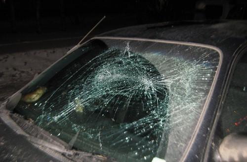 Не желая платить за проезд семейная пара разбила лобовое стекло