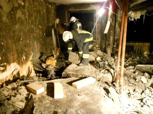 Спасатели обнародовали фотографии последствий взрыва в новокузнецкой квартире