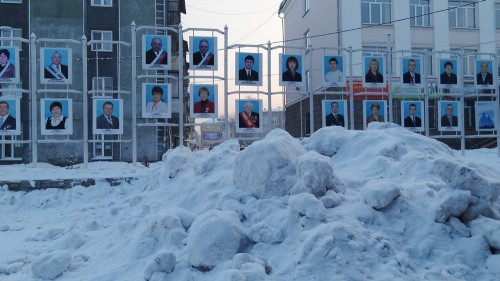 Почётных граждан Белова завалили снегом