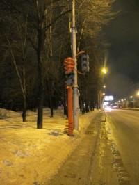 Гололед и светофор
