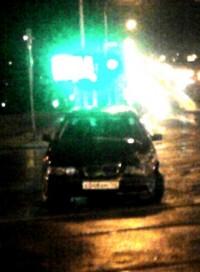Минувшей ночью на пересечении проспекта Ленина и улицы Соборной произошло ДТП (фото)
