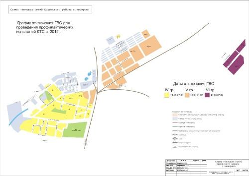 График отключения горячей воды в Кемерове