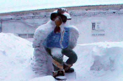 В Кузбассе выбрали лучшие снежные и ледяные скульптуры, созданные осуждёнными