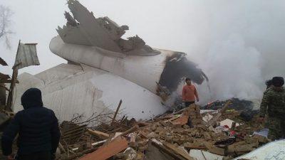 При крушении самолёта под Бишкеком погибли не менее 20 человек