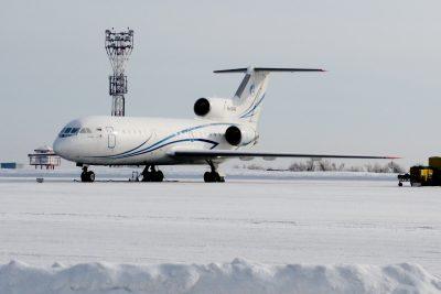 В аэропорту Кемерова застрял самолёт с 17 тоннами груза