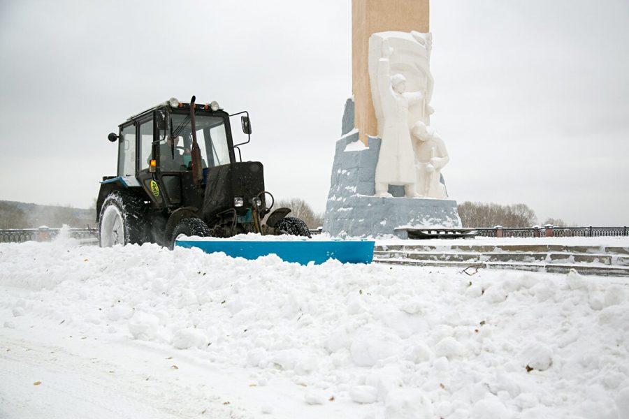 Снегоотвалы Кемерова используются напределе возможностей