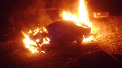 За сутки в Кузбассе горели шесть автомобилей