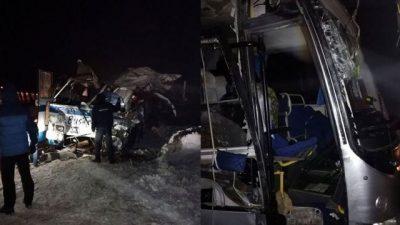 В массовом ДТП на Алтае три человека погибли и 29 получили травмы