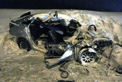 На трассе в Шерегеше, где в ДТП погибли три человека, была сужена проезжая часть
