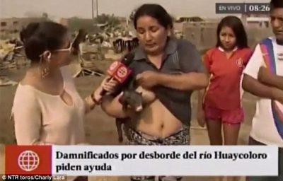 Перуанка в прямом эфире американского телеканала покормила грудью поросёнка
