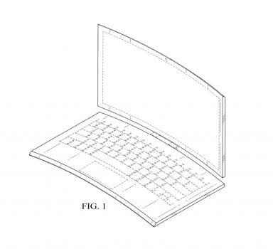 Компания Intel запатентовала изогнутый ноутбук