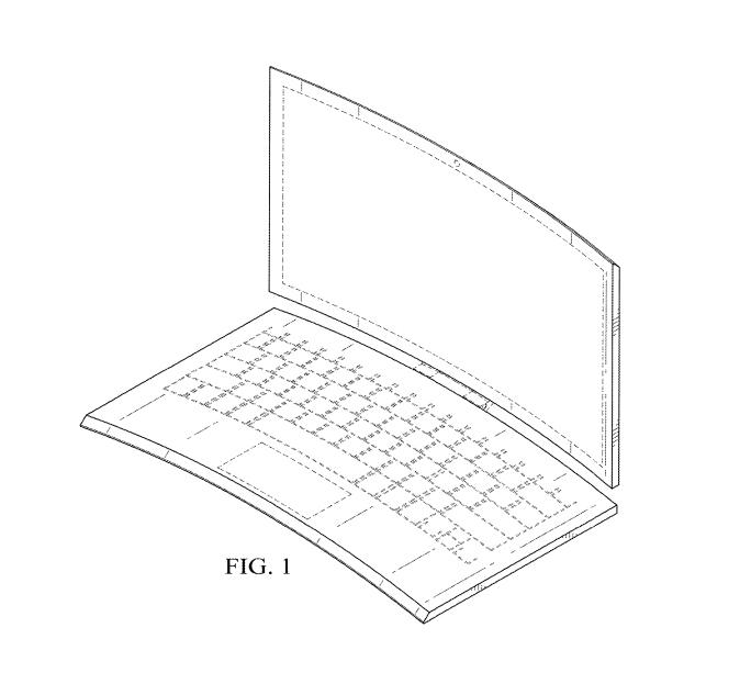 Новинка откомпании Intel: Запатентован изогнутый ноутбук