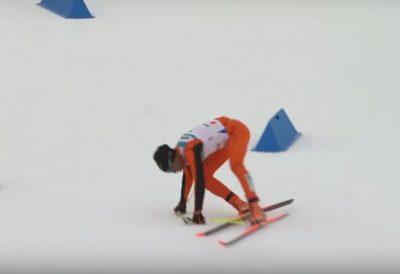 В Финляндии на ЧМ зрителей рассмешил лыжник из Венесуэлы специфической техникой