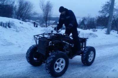 Новокузнечанин собрал из Nissan March полноприводный квадроцикл с АКПП