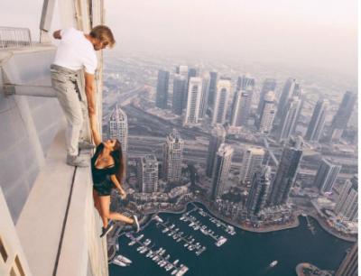 Российскую модель осудили за экстремальную съёмку на крыше небоскрёба
