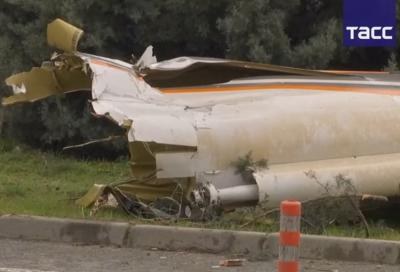 В Сети появилось видео последствий столкновения вертолёта и телебашни в Стамбуле, пятеро погибли