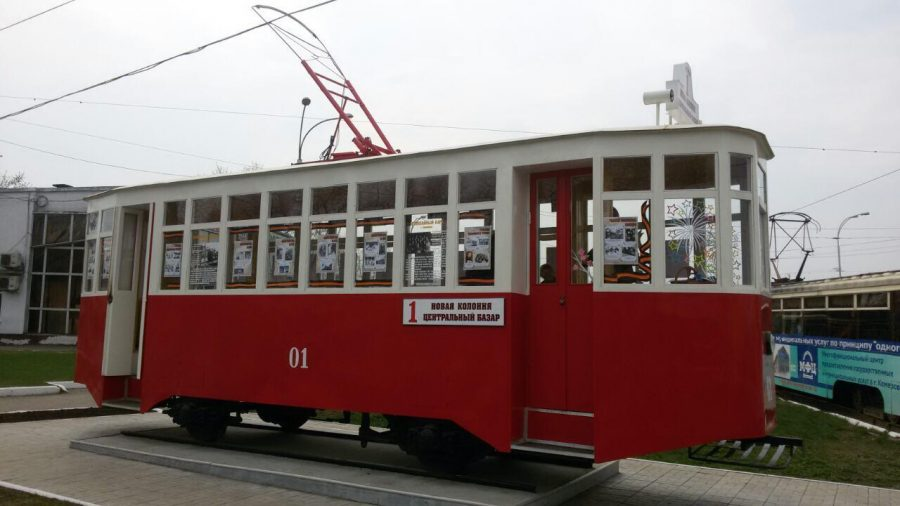 В окнах кемеровского вагона-памятника открылась фотовыставка