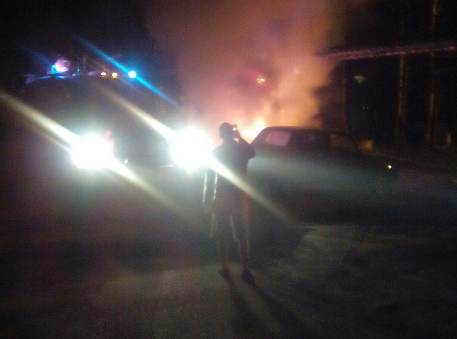 Поджог и неисправность авто: за сутки в Кузбассе сгорели три машины