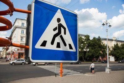 В Заводском районе Кемерова появился новый пешеходный переход
