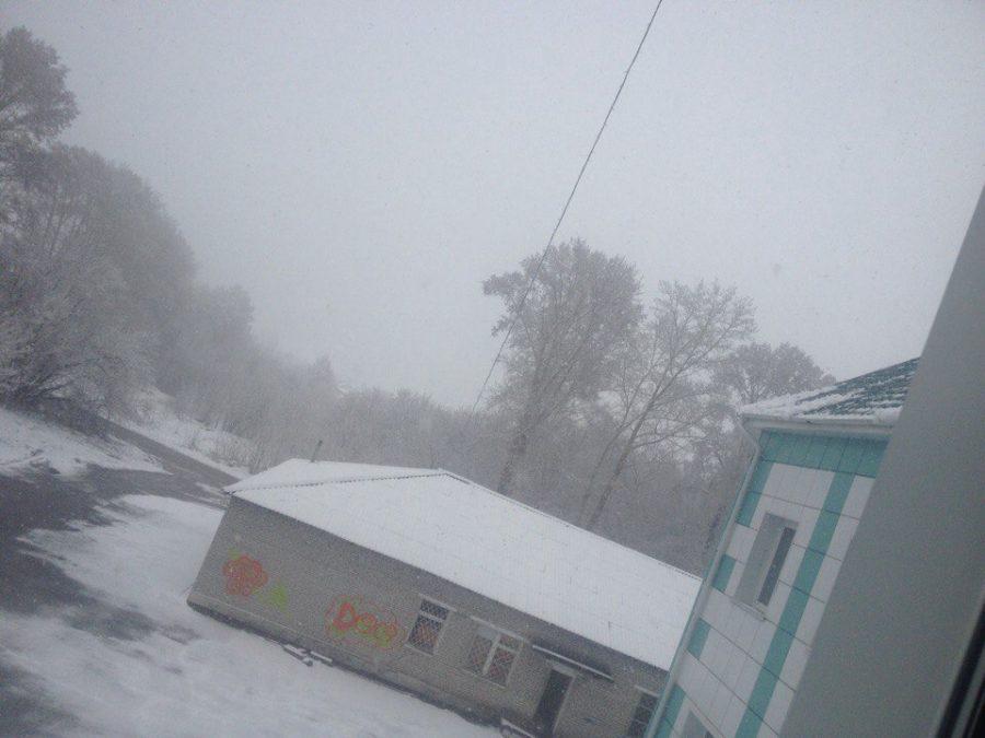 В Беловском районе 30 апреля выпал снег