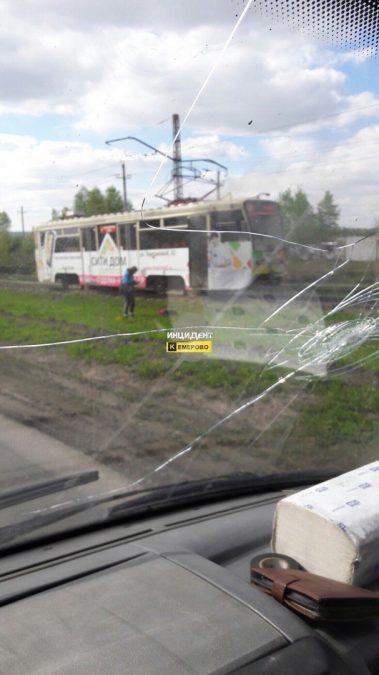 В Кемерове на Ракитянского горел трамвай