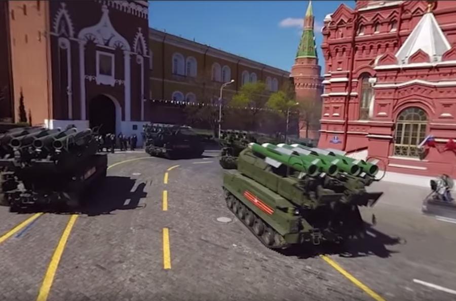 Минобороны опубликовало панорамное видео репетиции парада Победы в столице