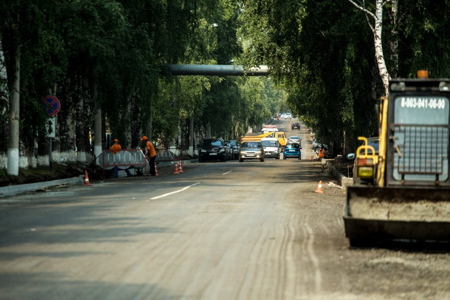 ВКемерове на 2-х дорогах поменяли схему движения