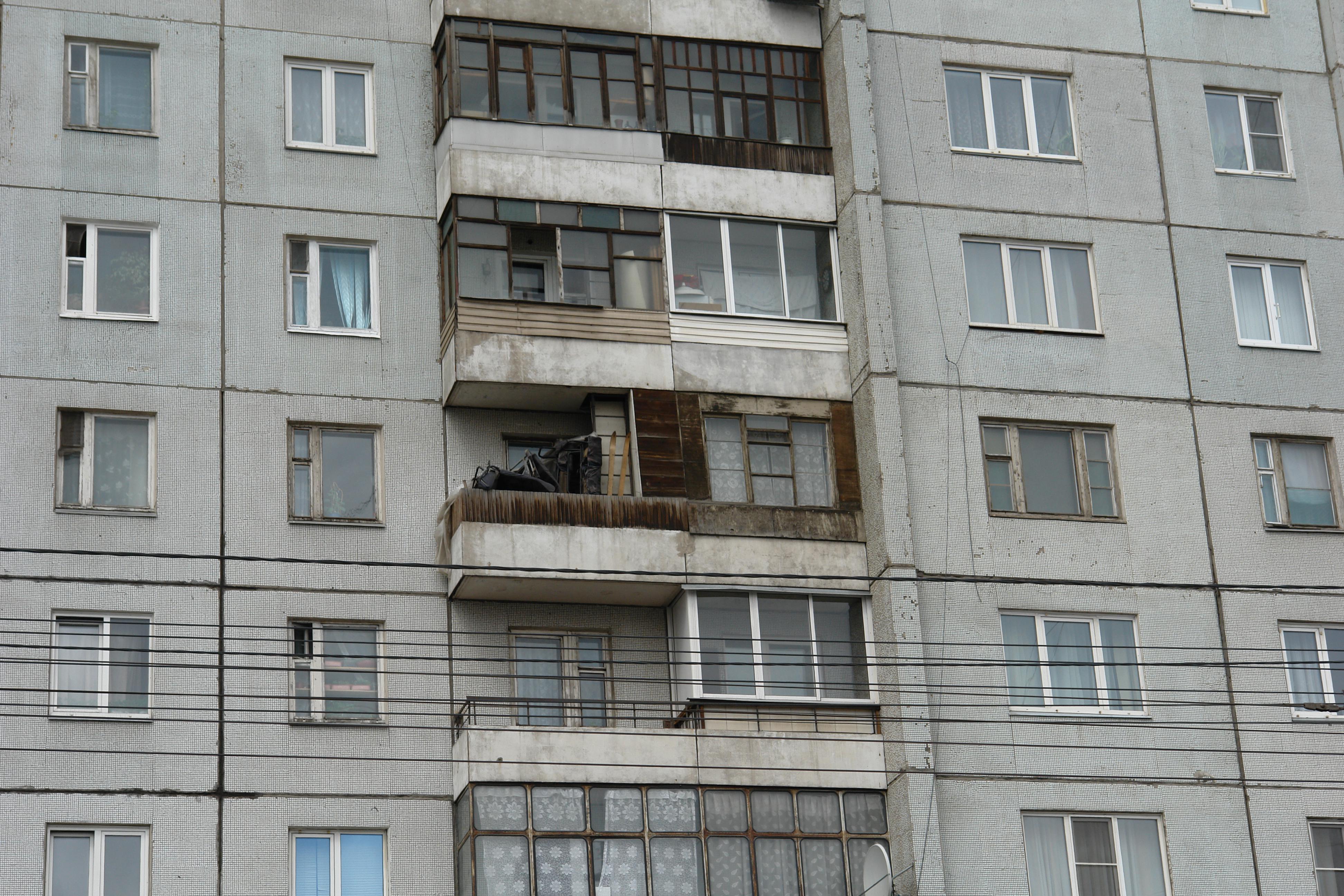 Красноярск красноярцам могут запретить сушить белье на балко.