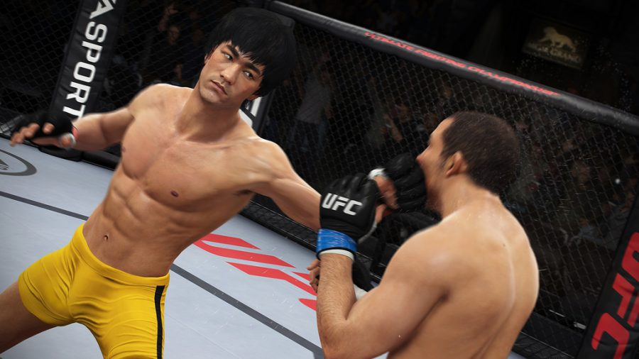 Вweb-сети интернет появился видеоролик реального боя БрюсаЛи поправилам MMA