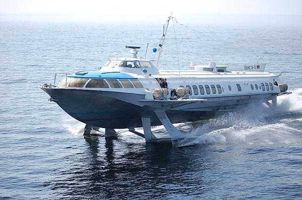 В Российской Федерации возобновилось производство судов наподводных крыльях типа «Комета»