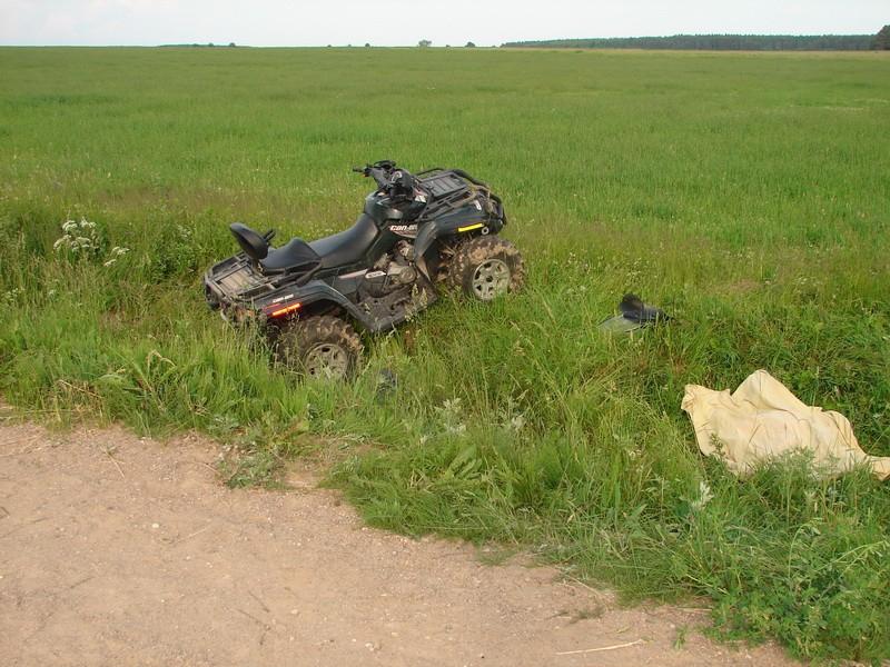 Квадроцикл перевернулся вНовокузнецком районе: умер шофёр
