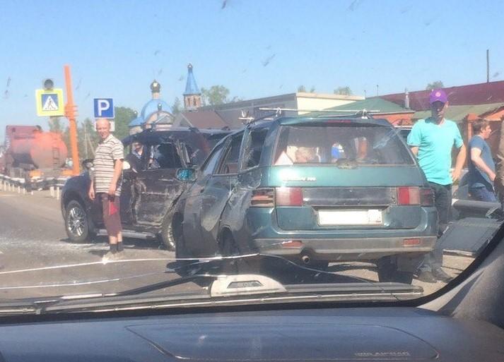 В Кузбассе в ДТП с автобусом пострадали два человека