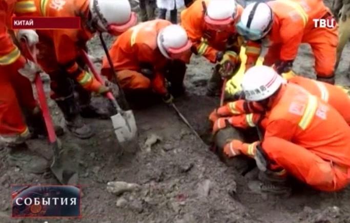 В китайской провинции сошёл второй оползень
