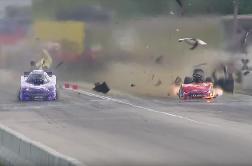 Видео: в США автомобиль гонщицы взорвался на скорости свыше 500 км/ч