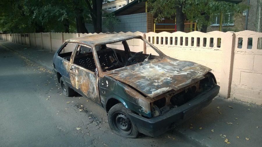 За прошедшие сутки в Кузбассе сгорели две машины