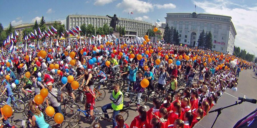 В Кузбассе несколько сотен человек приняли участие в велопробеге