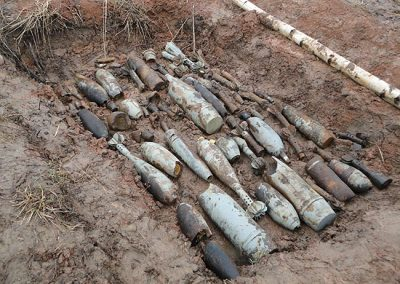 В Кемерове на улице нашли боевой снаряд