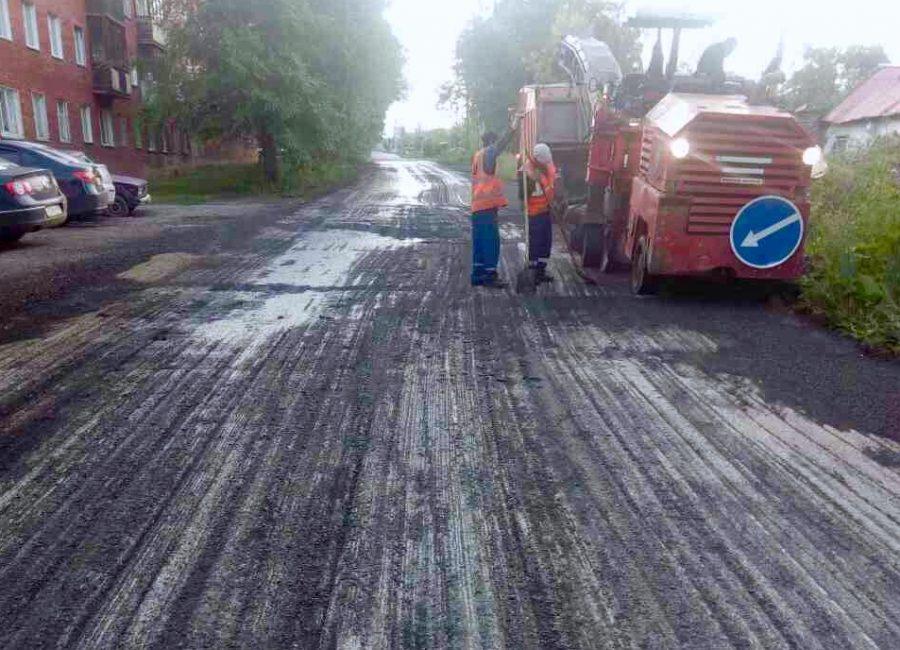 Более 11 тыс кв м нового асфальта уложат на кемеровской улице