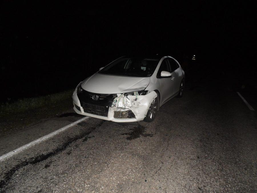 В Кузбассе женщина за рулём Honda протаранила мотоцикл, пострадавшим требуется помощь