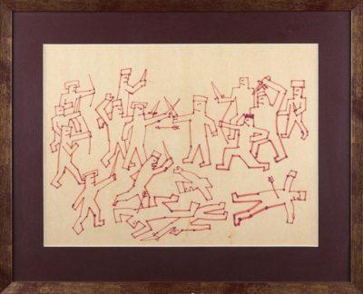 Нарисованную фломастером «Битву» Виктора Цоя продали за 250 тысяч