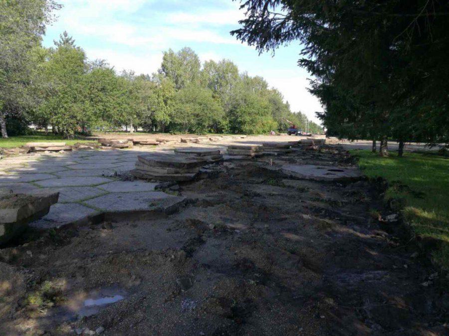В Кемерове начался ремонт бульвара Строителей