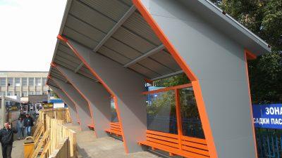 На территории автовокзала в Кемерове появился новый остановочный навес