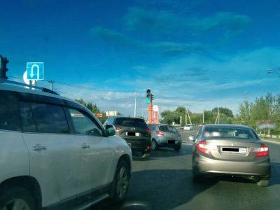 В Кемерове запустили светофоры на перекрёстке Притомский – Терешковой